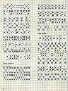 "Photo from album ""Alice Starmore Book of Fair Isle Knitting"" on Yandex. Motif Fair Isle, Fair Isle Chart, Fair Isle Pattern, Cross Stitch Borders, Cross Stitching, Cross Stitch Embroidery, Cross Stitch Patterns, Fair Isle Knitting Patterns, Knitting Charts"
