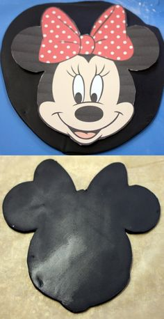Minnie Mouse Cake Topper How-To - Around the World in 80 Cakes This Minnie Mouse Cake Topper is easy to make & just requires a little fondant and a rolling pin. No fancy cutters needed. See the step-by-step how-to. Minni Mouse Cake, Mickey Mouse Cake Topper, Mickey Mouse Cupcakes, Minnie Cake, Mini Mouse Birthday Cake, Mickey Birthday, Birthday Kids, Mini Tortillas, Diy Cake Topper
