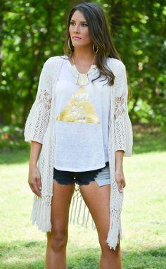 Crochet cardigan! https://belleboutiquenwa.com/crochet-knit-cardigan-10204.html #crochet #cardigan #corchetcardigan #summerapparel #fashion #ontrend #festival #trendy