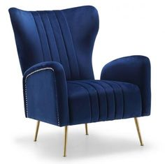 Get the armchair you've always wanted without sacrificing the modern style you love with the Meridian Furniture Inc Opera Velvet Accent Chair . Navy Accent Chair, Velvet Accent Chair, Velvet Wingback Chair, Swivel Armchair, Velvet Chairs, Modern Armchair, Reading Nook Chair, Meridian Furniture, Swivel Barrel Chair