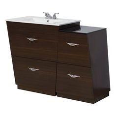 American Imagination AI-128 Vee 47.5-in Modular Bathroom Vanity with Ceramic Top