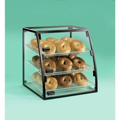Mission Style Curved Front Display Case