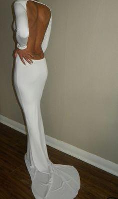Dress: open back backless maxi skinny long sleeve maxi