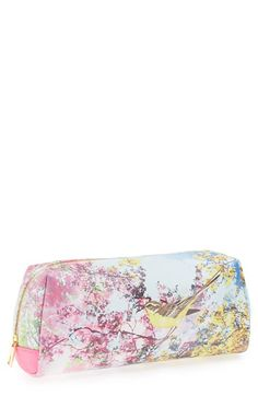 e74ec7ca804711 Ted Baker London  Large Pretty Trees  Print Cosmetics Case available at   Nordstrom Cos