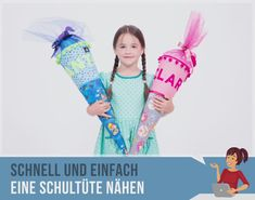 Kostenloses Schnittmuster für eine Schultüte Free sewing pattern for sewing a cute school bag. With this pattern and the matching video you can sew your little one to the beginning of school as a sewing beginner a great, homemade school bag. Stylish School Bags, Cute School Bags, Sewing Patterns Free, Free Sewing, Free Pattern, Sewing Hacks, Sewing Tips, Sewing Tutorials, Sewing Projects For Beginners