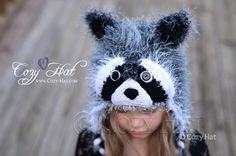Furry Raccoon Hat