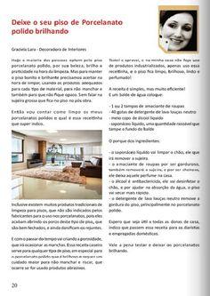 Minha Matéria sobre Limpeza dos Porcelanatos na Revista Dicas Mulher Maio/14!