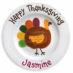Happy Thanksgiving Holiday Plate