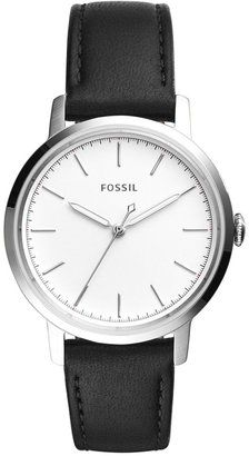 Fossil Women's Neely Black Leather Strap Watch 34mm ES4186 #watches #womens