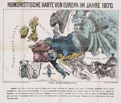 Humoristische Karte von Europa im Jahre 1870 - Historiana.eu