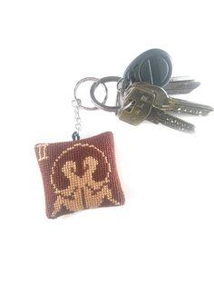 Keychain Gemini, embroidery keychain, key fob zodiac, cross stitch Gemini, embroidery star sign, Gemini pendant, accessory Gemini, horoscope keychain, keyring Gemini, star sign keychain, constellation Gemini, astrology keychain