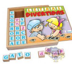 Letras Divertidas, Letras Divertidas Simque Brinquedos, Alfabeto de Madeira, Alfabetizar brincando, Jogos Didáticos, jogos de madeira, Letras divertidas                                                                                                                                                      Mais
