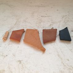 Natural Leather Dye. Coffee for brown and steel wool dissolved in vinegar for black.