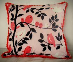 Almohadón Birds & Flowers 40 x 40