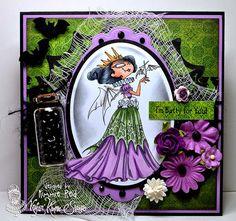 Vampire Queen! from Kraftin' Kimmie Stamps Designed by Kim Reid www.kraftinkimmiestamps.com