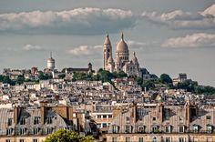 Photo Poésie Sacrée Coeur Le ciel par-dessus le toit de Verlaine : photographie des toits de Paris et du Sacrée Coeur de Montmartre..