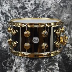 DW-Collectors-Series-8x14-Black-Nickel-over-Brass-Snare-Drum-Gold-Hardware