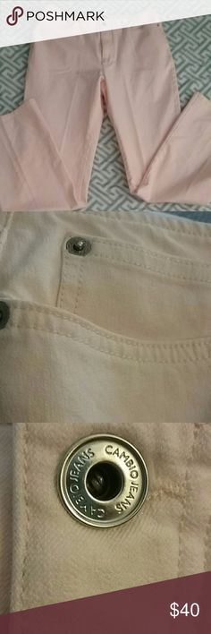 Price ✂ Gorgeous Cambio jeans Light peach/pink Cambio with beautiful accents and tailoring. 5 pockets simple gorgeous design. Waist 31. Inseam 31. Really nice. Perfect condition. Cambio Jeans