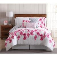 Give your bedroom a makeover with this fabulous three piece floral springfield pink floral 12 piece bed in a bag comforter set with mightylinksfo