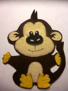 Image result for felt monkey
