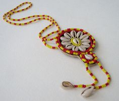 Vintage 70s Rustic Primitive Native American Shell and Bead Necklace by ThePaisleyUnicorn, $8.00
