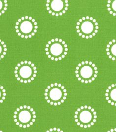 Quilter's Showcase™ Cotton Fabric-Circles Green/White