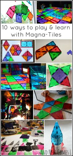 10 creative ways for kids to play and learn with Magna-Tiles from And Next Comes L  - featuring Caution! Twins at Play!