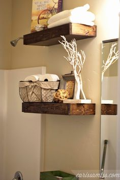 Carissa Miss: DIY Chunky Bathroom Shelves