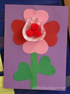 Valentine's Day Crafts for Kids: Valentine Flower
