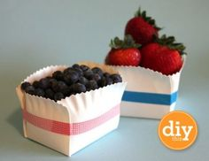 Cute picnic idea! Plus, page contains other paper crafts.