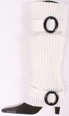New Gusi Acrylic Leg Warmers with Belt Like Attachment Comfortable White BNWT | eBay