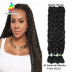 Ambitious Razeal 24inch Pure Color 100g Synthetic Jumbo Braid African Style Long Hair Kanekalon Crochet Braiding Hair Hair Extensions & Wigs