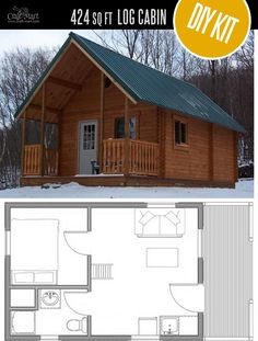 Outdoorsman Log Cabin by Conestoga Log Cabins Homes &; quality small log cabin kits and pre-built &; Outdoorsman Log Cabin by Conestoga Log Cabins Homes &; quality small log cabin kits and pre-built &; Small Log Cabin Kits, Log Cabin House Plans, Tiny Log Cabins, Log Cabin Homes, Small House Plans, Diy Cabin, Rustic Cabins, Barn Homes, Pre Built Cabins