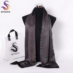 BYSIFA Long Silk Scarf