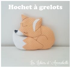 Hochet à Grelots thème renard : Jeux, peluches, doudous par leslubiesdannabelle