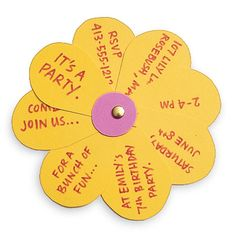 Flower party invitation.