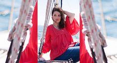 #summer #fashion #plussize #sea #sun #woman #sexy #curvy #shopping #model Campaign, Curvy, Ruffle Blouse, Plus Size, Sun, Seasons, Woman, Summer, Model