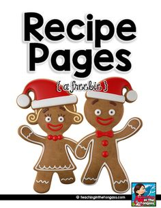 Recipe Pages {free} - Use them to create a class recipe book for the holidays!