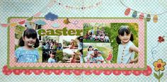 Easter Scrapbooking layouts | Layout: EASTER (Ines)