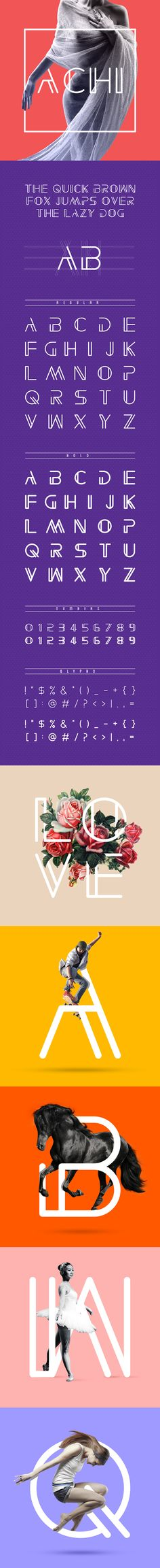 ACHI FONT on Behance