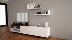 The key to life is rearranging the furniture. Get this Dizayn White and Walnut TV Unit on our website for only $334.74!  Tags: #doseofmodern #furniture #furnituredesign #woodworking #interior #sofa #homedecor #decor #decoration #wood #woodwork #instadesign #furnituremurah #table #interiors #homedesign #chair #livingroom #furniturejakarta #modern #industrialdesign #bedroom #mobilya #furnitureindonesia #decorating #industrial #productdesign #mebel #instahome #interiordesigner Tv Unit Furniture, Modern Furniture, Furniture Design, Industrial Design, Floating Shelves, Woodworking, The Unit, Sofa, House Design