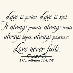 Love Is Patient Quote Vinyl Wall Art Decal Sticker Home Decor