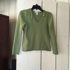100% Merino wool sweater Great condition green wool sweater Marisa Christina Sweaters