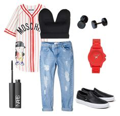 """""""A Day at the Mall ."""" by kiaraamonae on Polyvore featuring Moschino, Boohoo, MANGO, Vans, NARS Cosmetics and Vince Camuto"""
