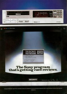Sony Program for Betamax Japan Advertising, Sony Electronics, Vcr Player, Cool Tech, Audio Equipment, Old Toys, Vintage Advertisements, Videography, Retro