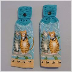 Hey, I found this really awesome Etsy listing at https://www.etsy.com/listing/189477369/hanging-kitchen-towels-cats