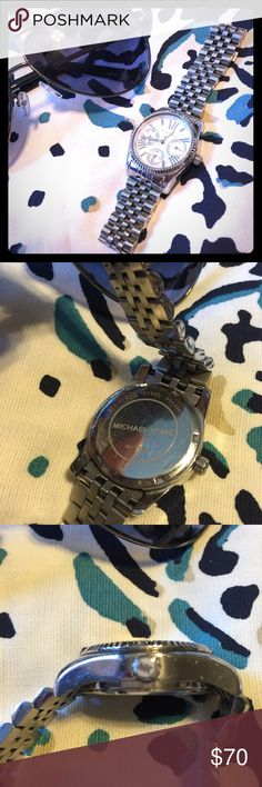 """Stainless Streel MK Watch Stainless Steel Authentic MK watch. No box. I did have links removed and no longer have them. My wrist measures 6.5"""" and its fits perfect! Scratches due to wear. Additional photos available upon request. Michael Kors Accessories Watches"""