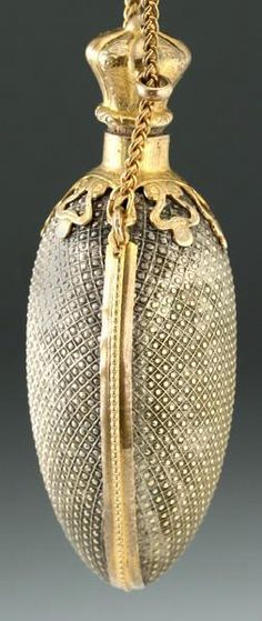 Perfume bottle for chatelaine. ca.1880