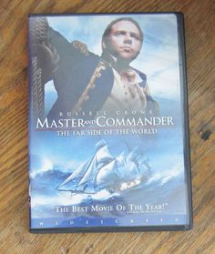 MASTER AND COMMANDER Widescreen DVD, Russell Crowe as Naval Captain Jack Aubrey