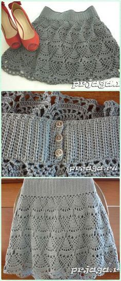 Crochet Short Skirt Free Pattern- Crochet Women Skirt Free Patterns You are in the right place about crochet crafts Here we offer you the most. Skirt Pattern Free, Crochet Skirt Pattern, Crochet Skirts, Crochet Clothes, Free Pattern, Pattern Dress, Mode Crochet, Knit Crochet, Crochet Tops